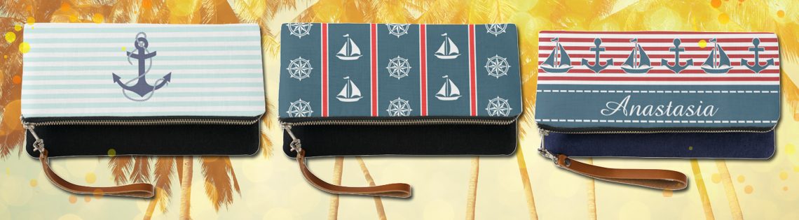 Nautical Clutch Handbags