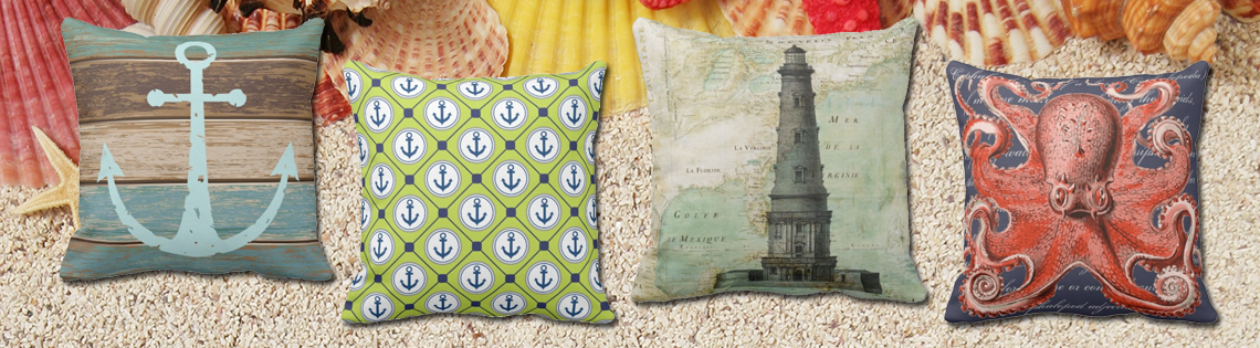 Square Nautical Throw Pillows