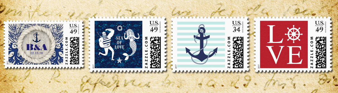Nautical Postage Stamps