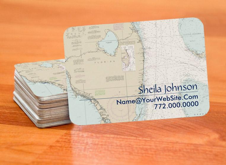 Nautical Chart business Cards