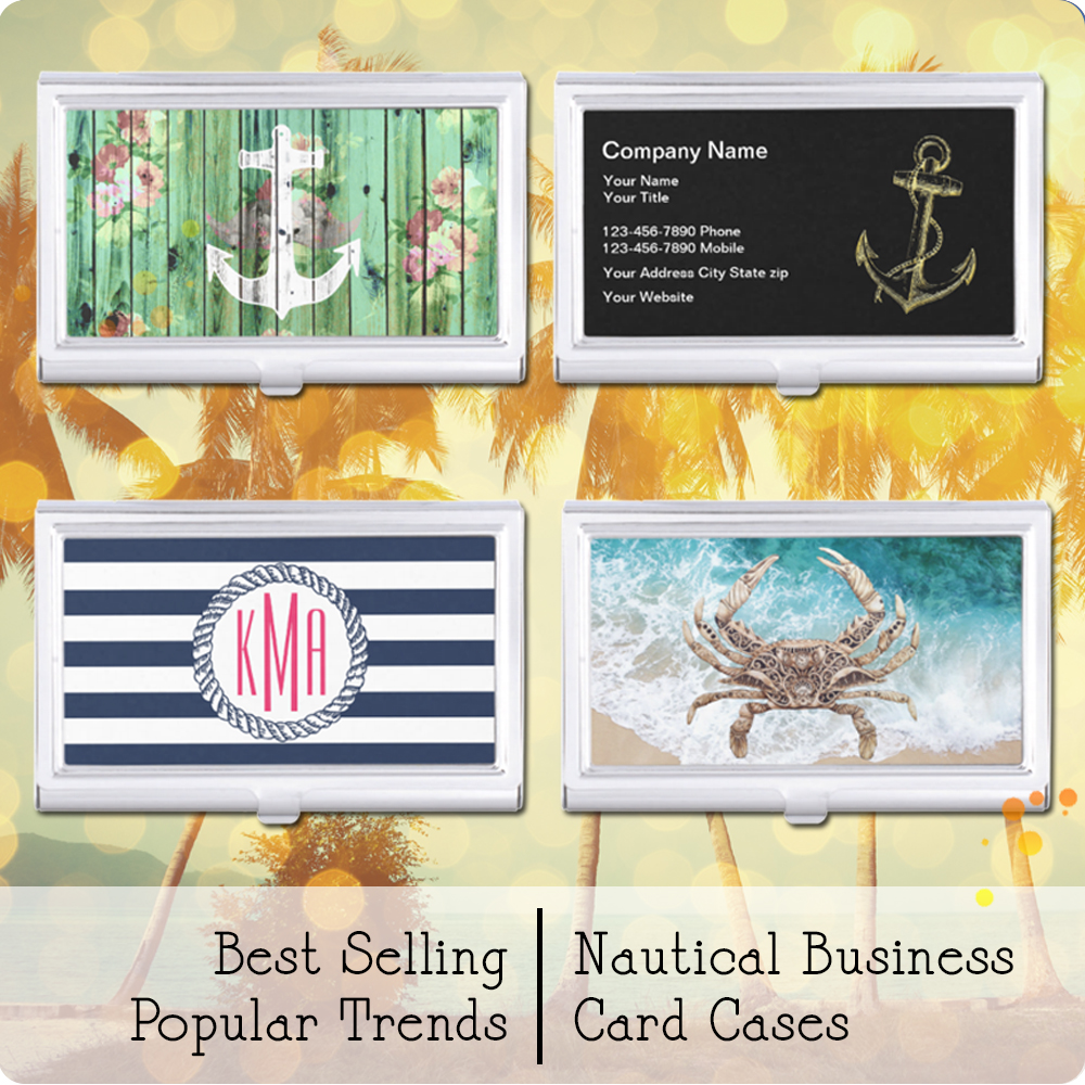 Nautical Business Card Cases for Your Nautical Style | www ...