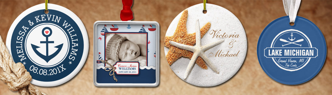 Nautical Ornaments Make Great Stocking Stuffers & Keepsake Gift Tags!