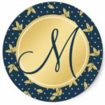 Classic Navy Blue and Gold Envelope Seal