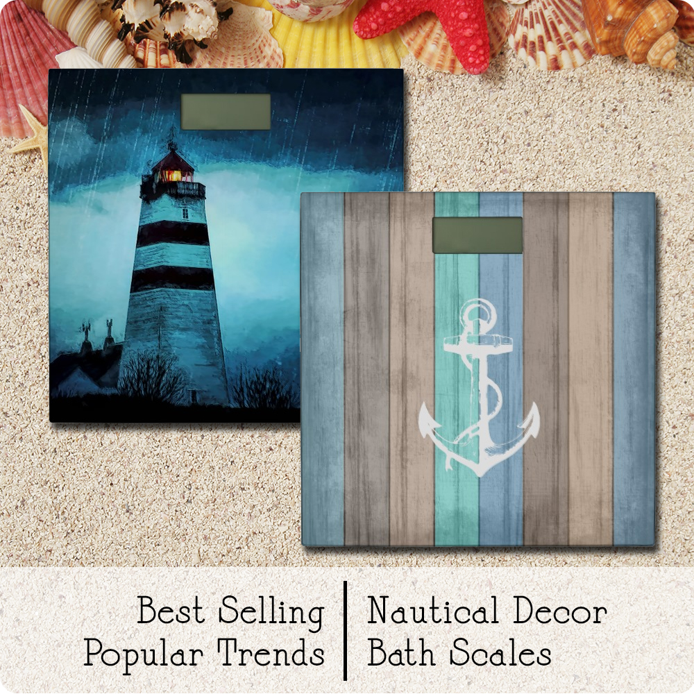Bathroom Scales with Nautical Detailing | www.NauticalBoutique.Co