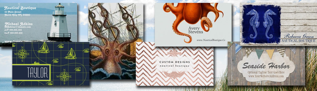 On Super Sale: Nautical Business Cards are up to 70 Percent Off {TODAY ONLY}