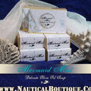 Mermaid Mist | Delicate Olive Oil Soap by www.NauticalBoutique.Co