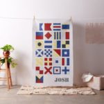 Watercolor Effect Nautical Signal Flag Craft Project