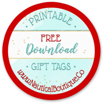 Free Nautical Gift Tags for Printing at Home