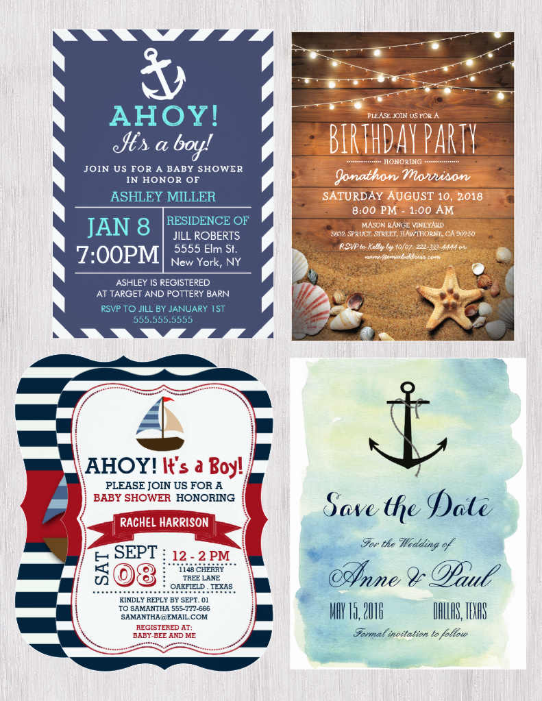 Introducing Nautical Baby Shower Invitations | NauticalBoutique.Co