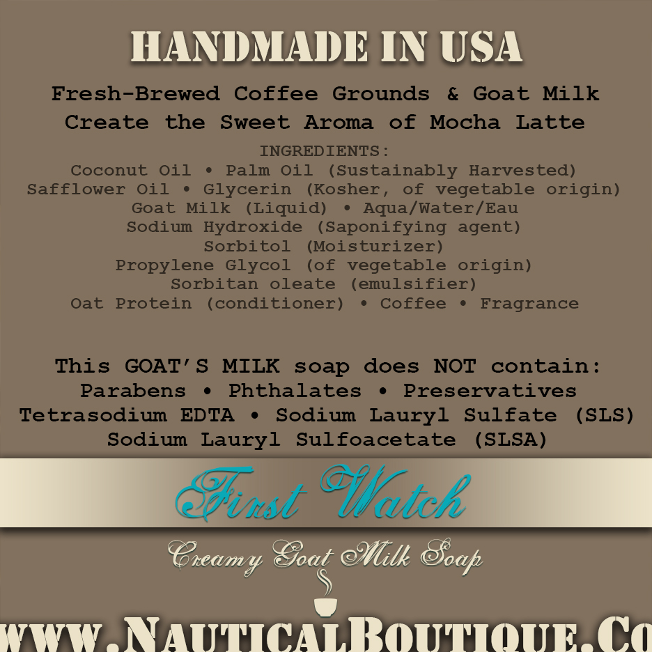 First Watch Coffee & Goat's Milk Soap - The Nautical Boutique Co