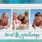 Tropical Seas and Greetings Photo Card Sample